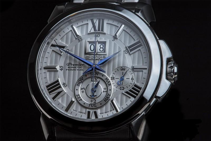 Đồng hồ Seiko Premier thiết kế chuẩn châu Âu, bộ máy Kinetic - Hình 3