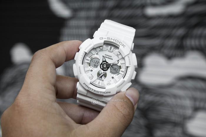 G-Shock GA-120A-7ADR Sự kết hợp hoàn hảo giữa kim, đồng hồ điện tử - Ảnh: 2