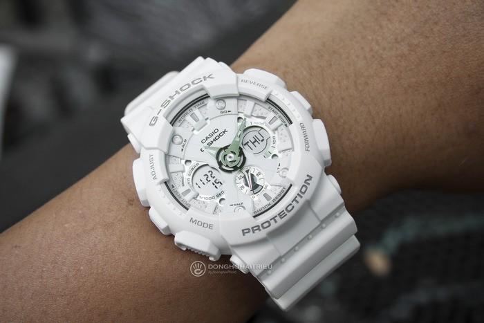 G-Shock GA-120A-7ADR Sự kết hợp hoàn hảo giữa kim, đồng hồ điện tử - Ảnh: 5