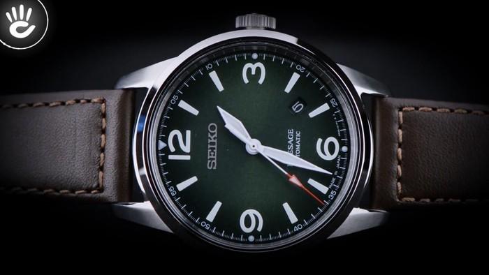 Đồng hồ Seiko SRPB65J1 Đầy thời trang nhờ có mặt số màu xanh lạ mắt - Ảnh 1