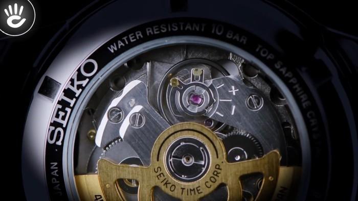 Đồng hồ Seiko SRPB65J1 Đầy thời trang nhờ có mặt số màu xanh lạ mắt - Ảnh 4