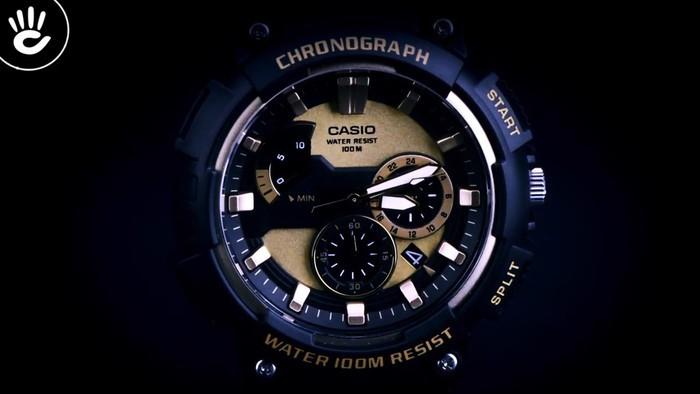 Casio MCW-200H-9AVDF Ấn tượng với mặt số caro vàng độc đáo - Ảnh 2