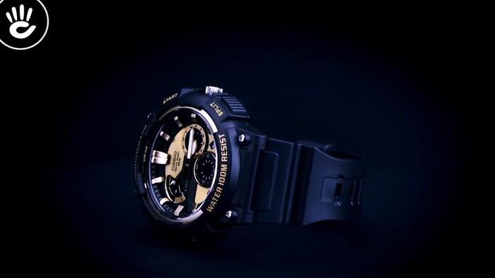 Casio MCW-200H-9AVDF Ấn tượng với mặt số caro vàng độc đáo - Ảnh 4