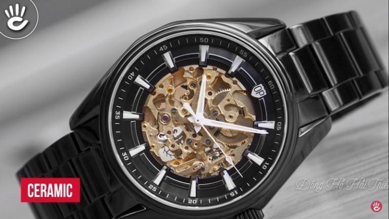 Đồng hồ Nhật Bản OP bắt mắt nhờ vào lớp dá Ceramic cao cấp