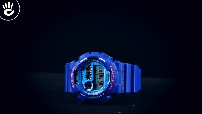 Casio G-Shock GD-120TS-2DR Hồng nổi bật trên mặt xanh hy vọng - Ảnh 1
