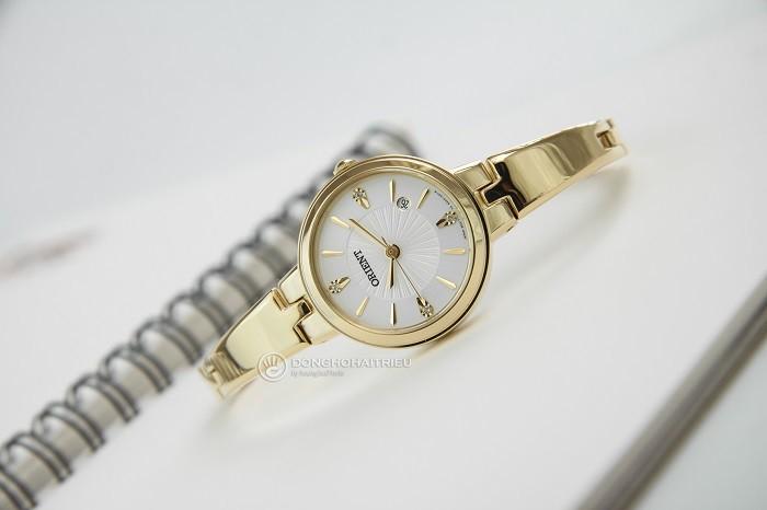Nhỏ gọn như chiếc lắc tay từ đồng hồ mạ vàng Orient FSZ40003W0-ảnh 2