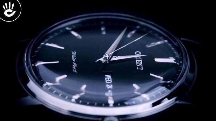 Orient FSZ40003W0 Đậm nét truyền thống với mặt số, dây đen thanh lịch-ảnh 2