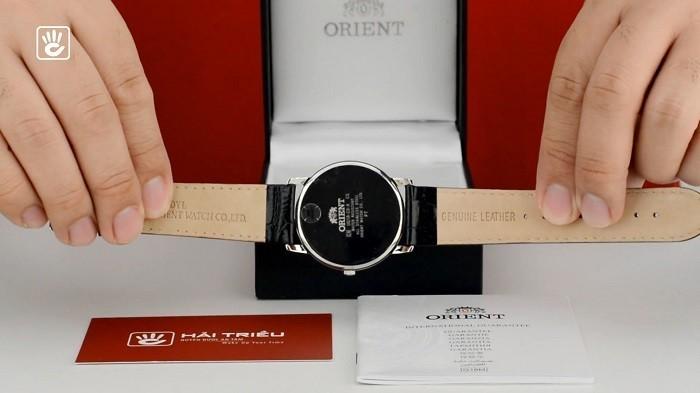Orient FSZ40003W0 Đậm nét truyền thống với mặt số, dây đen thanh lịch-ảnh 4