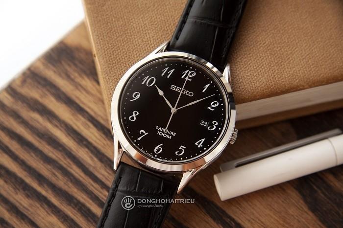 Review đồng hồ Seiko SGEH75P1 nền đen nam tính-ảnh 1