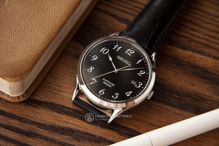 Review đồng hồ Seiko SGEH75P1 nền đen nam tính-ảnh 2