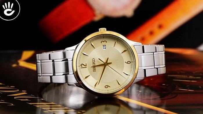Review đồng hồ Seiko SGEH92P1 3 kim 1 lịch ngày, cọc số mạ vàng-ảnh 1