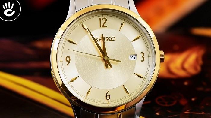 Review đồng hồ Seiko SGEH92P1 3 kim 1 lịch ngày, cọc số mạ vàng-ảnh 2
