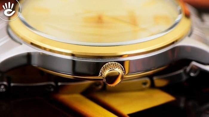 Review đồng hồ Seiko SGEH92P1 3 kim 1 lịch ngày, cọc số mạ vàng-ảnh 4