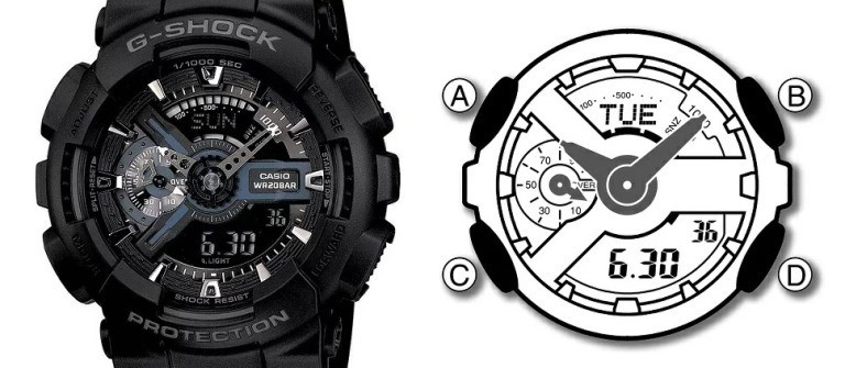 Tìm hiểu hệ thống các nút điều chỉnh trước khi chỉnh đồng hồ G Shock