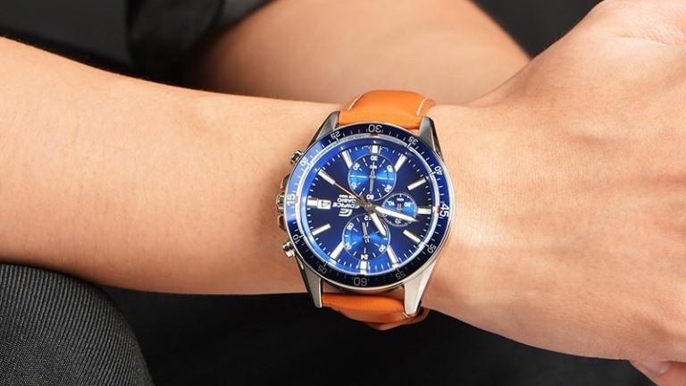 Đồng hồ casio edifice dây da EFR-546L-2AVUDF nam tính lịch lãm