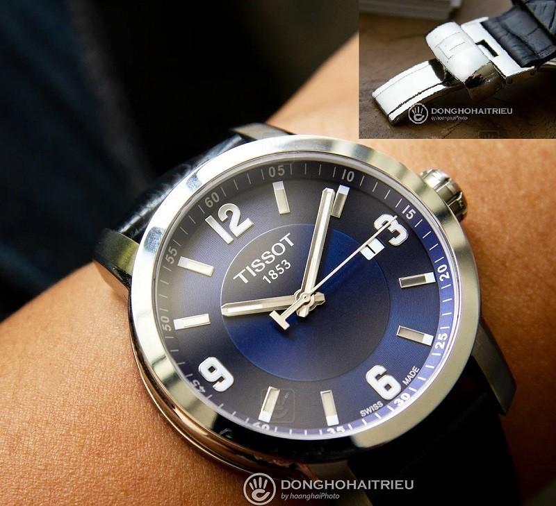 Dây da đồng hồ khóa bướm 2 gấp của đồng hồ Tissot