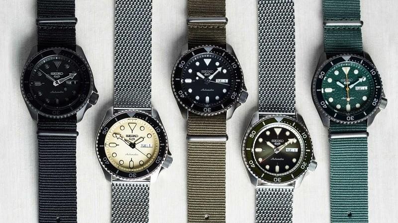 Các mẫu dây đồng hồ Seiko 5 đặc trưng