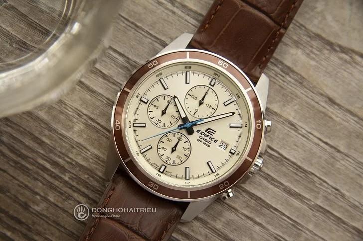 Đồng hồ casio edifice dây da EFR-526L-7BVUDF được thiết kế bắt mắt