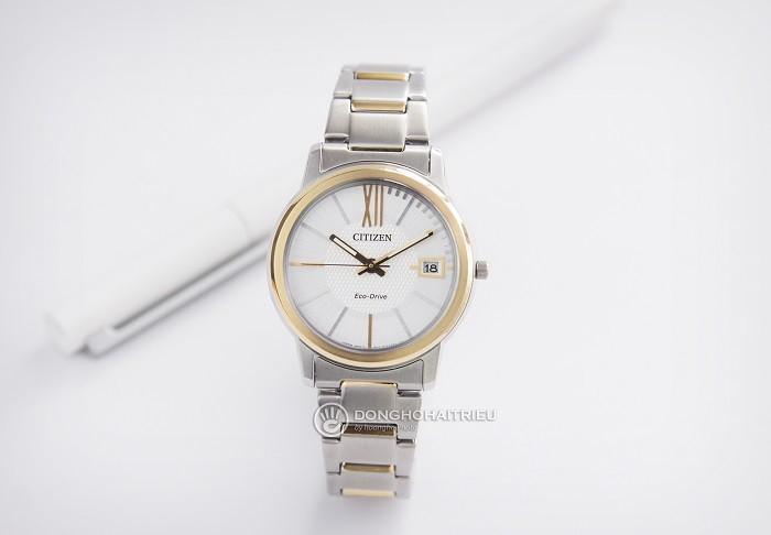 Đồng hồ Citizen FE6014-59A sắc vàng phối sắc bạc tinh tế - Ảnh 1