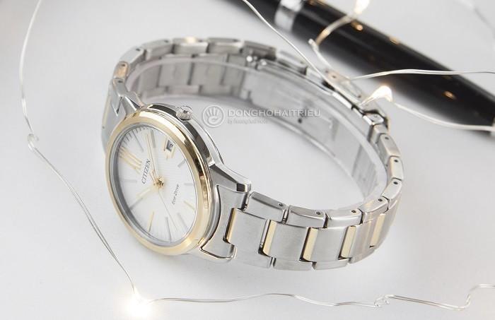 Đồng hồ Citizen FE6014-59A sắc vàng phối sắc bạc tinh tế - Ảnh 4