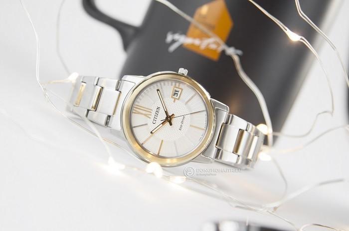 Đồng hồ Citizen FE6014-59A sắc vàng phối sắc bạc tinh tế - Ảnh 6