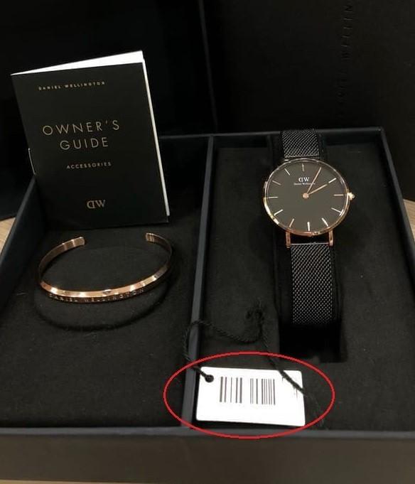 Đồng hồ Daniel Wellington xách tay cũng có thể bị làm giả mã code, serial