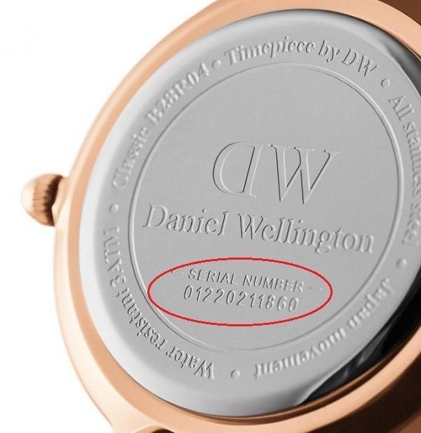 Khó có thể phân biệt đồng hồ DW thật giả khi dựa vào mã serial