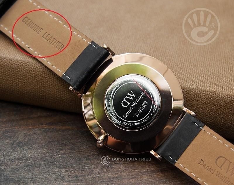 Phân biệt đồng hồ DW xách tay thật giả dựa vào chất liệu dây da