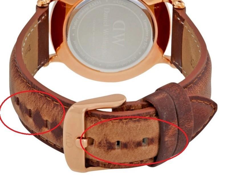 Đồng hồ DW xách tay giả dễ bị phai màu khi được uốn cong