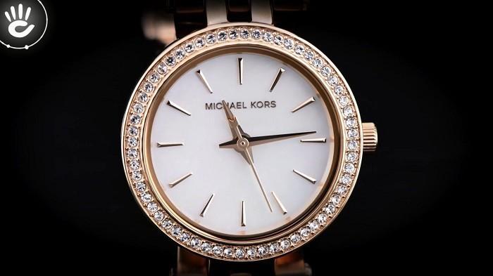 Đồng hồ Michael Kors MK3832 Viền kim cương đầy tinh xảo - Ảnh 2