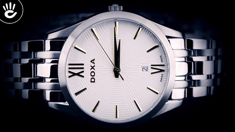 Đồng hồ Doxa D203SWY giá rẻ, thay pin miễn phí trọn đời -ảnh 4