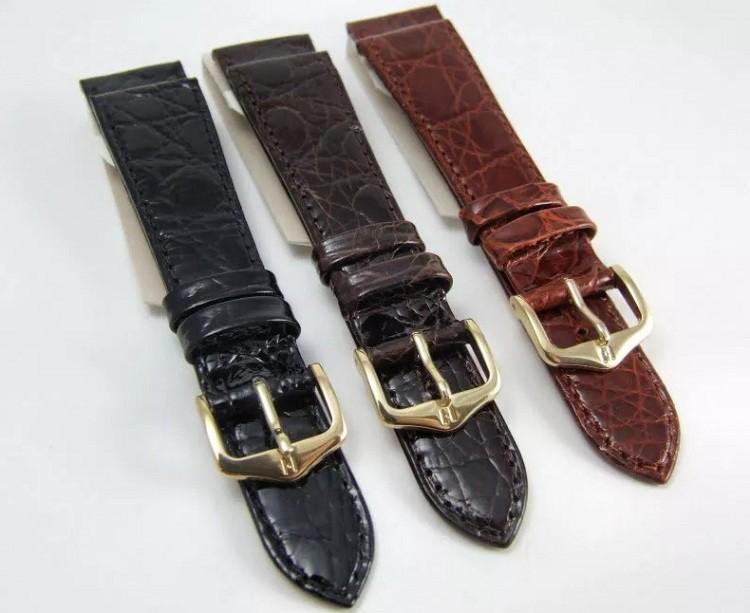 Dây da đồng hồ cá sấu Hirsch chính hãng