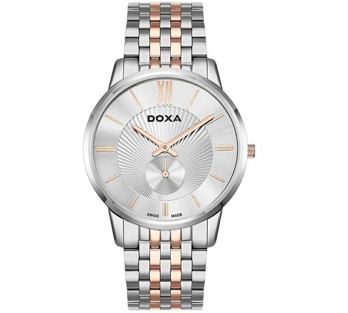 Review đồng hồ Doxa D155RSV thiết kế không đồng trục - Ảnh 1