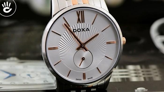 Review đồng hồ Doxa D155RSV thiết kế không đồng trục - Ảnh 2