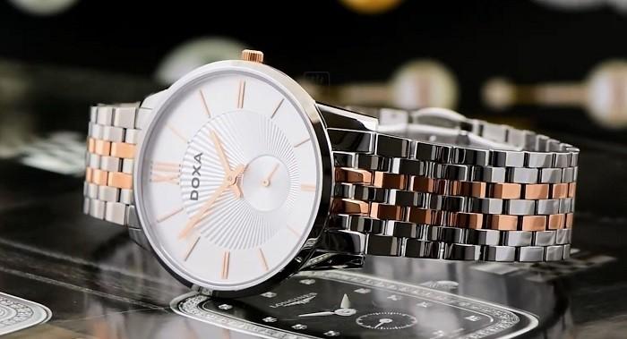 Review đồng hồ Doxa D155RSV thiết kế không đồng trục - Ảnh 3