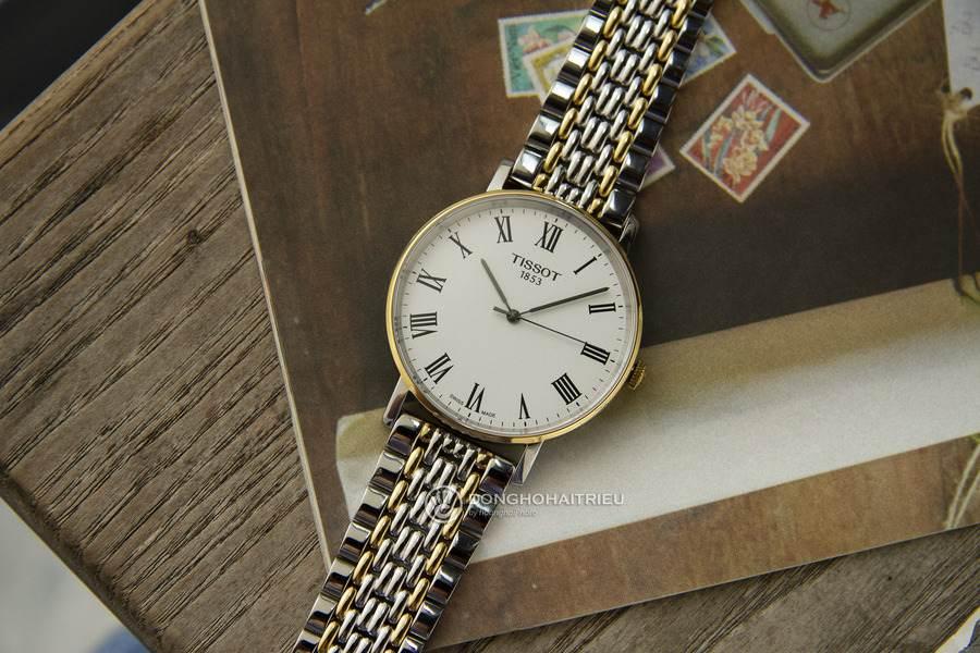 Đồng hồ Tissot dây kim loại demi cuốn hút, bắt mắt