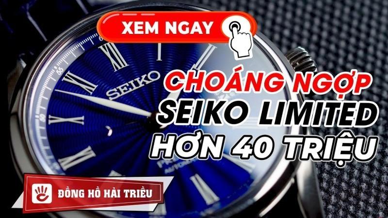 Unbox Đồng Hồ Seiko Presage Shippo SPB075J1 Limited mặt men sứ